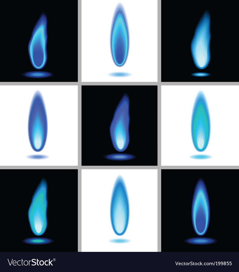 Gas flames vector image