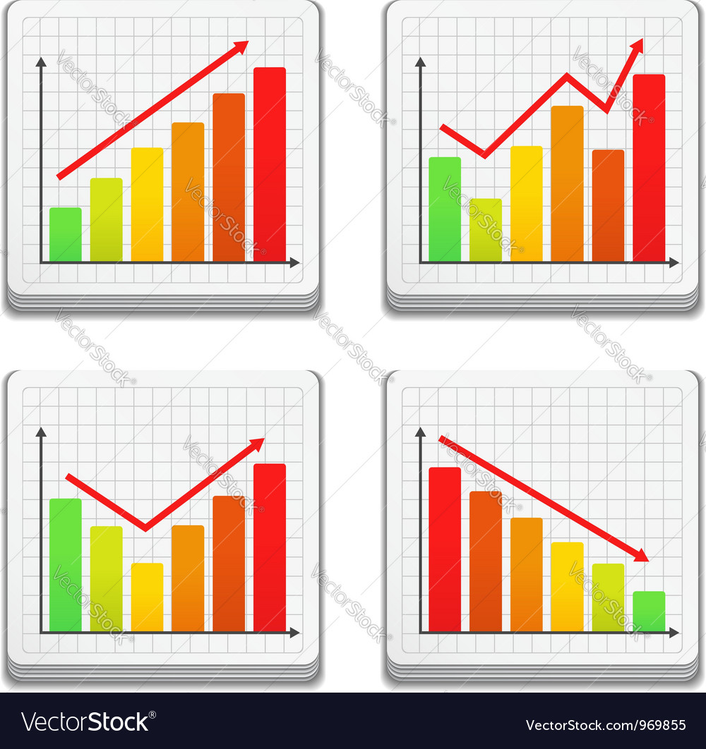 Graphs Icons vector image