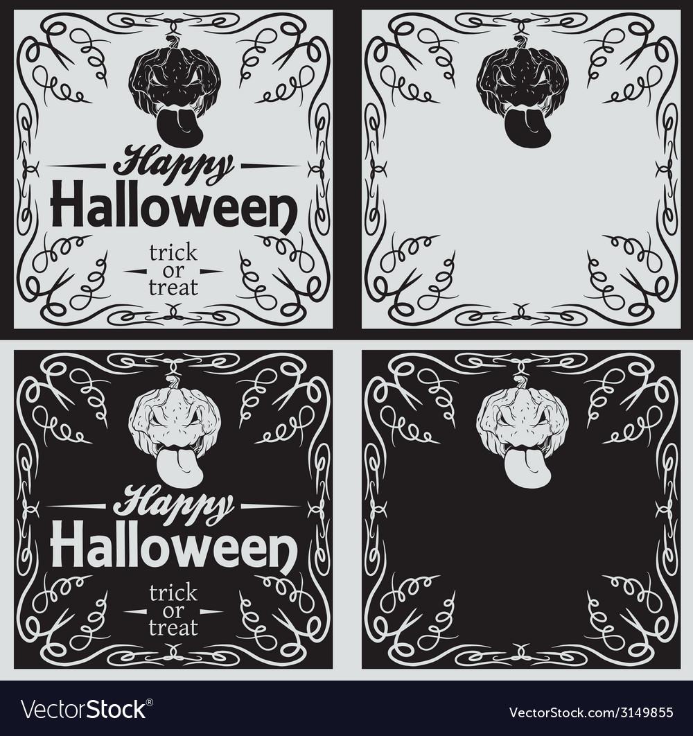 Vintage happy halloween greetings cards royalty free vector vintage happy halloween greetings cards vector image kristyandbryce Images
