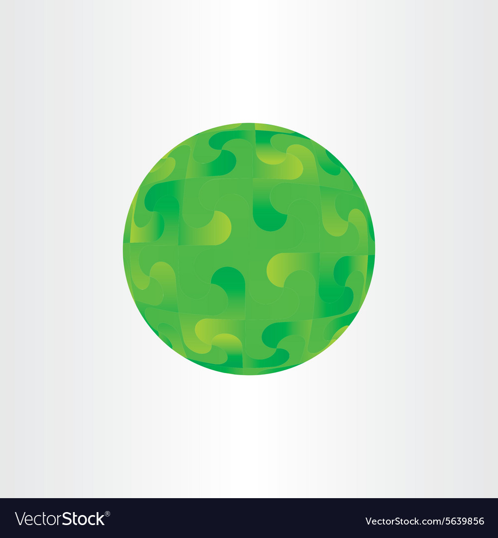 Green decorative globe circle background abstract vector image