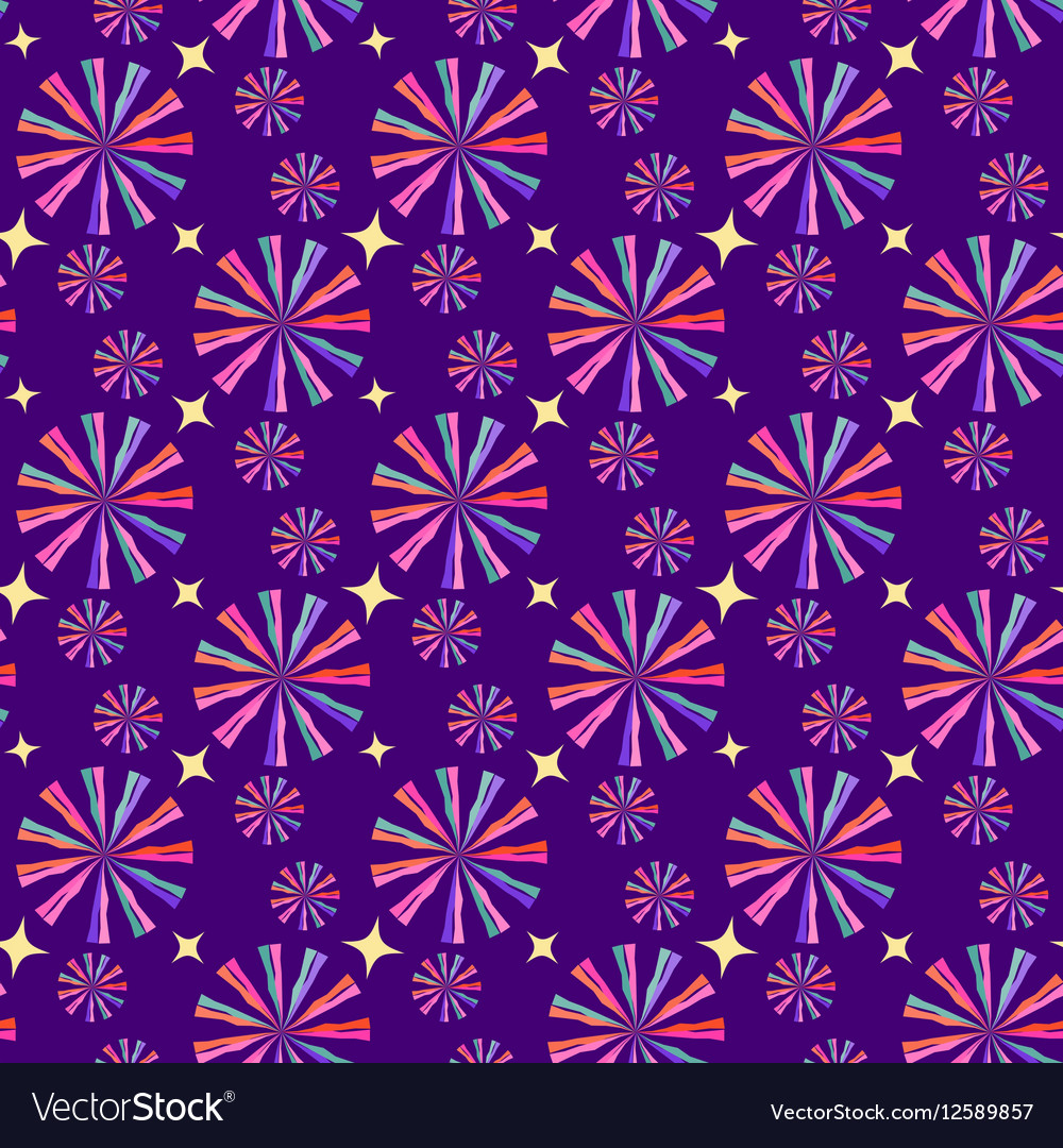 Abstract geometric seamless pattern circus vector image