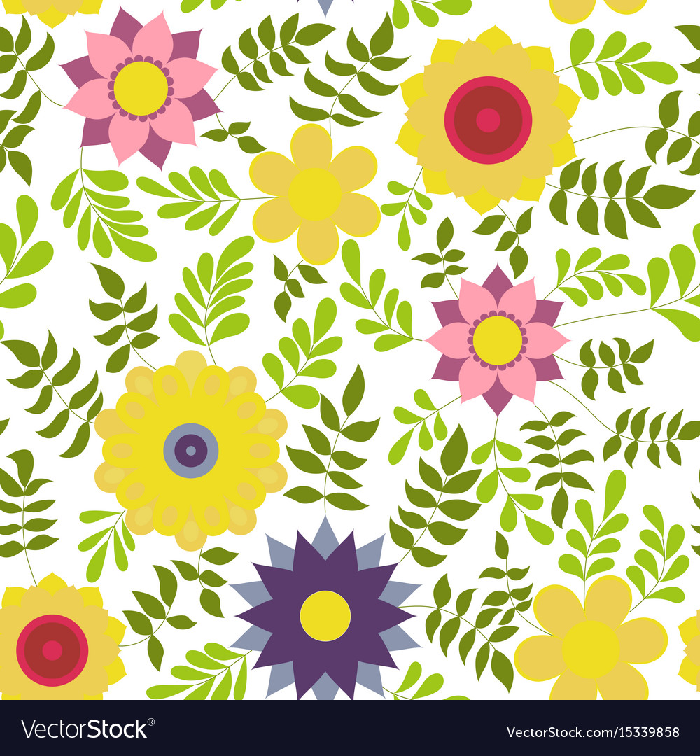 Flower colorful on white vector image