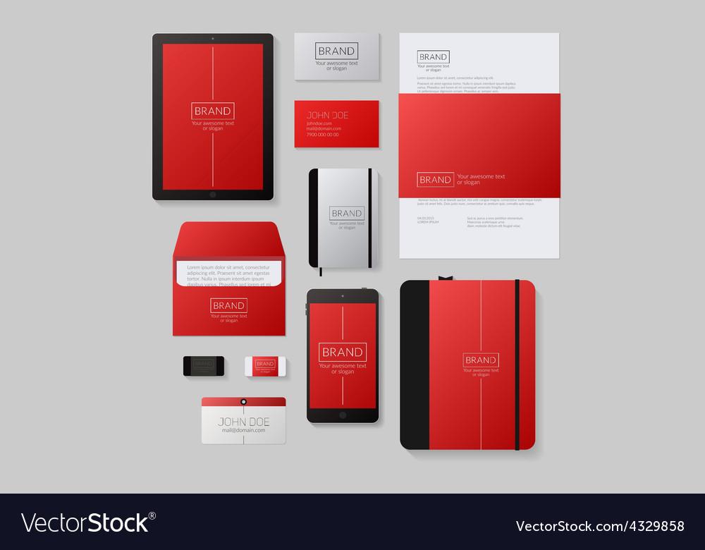 Modern corporate identity template design Flat Vector Image