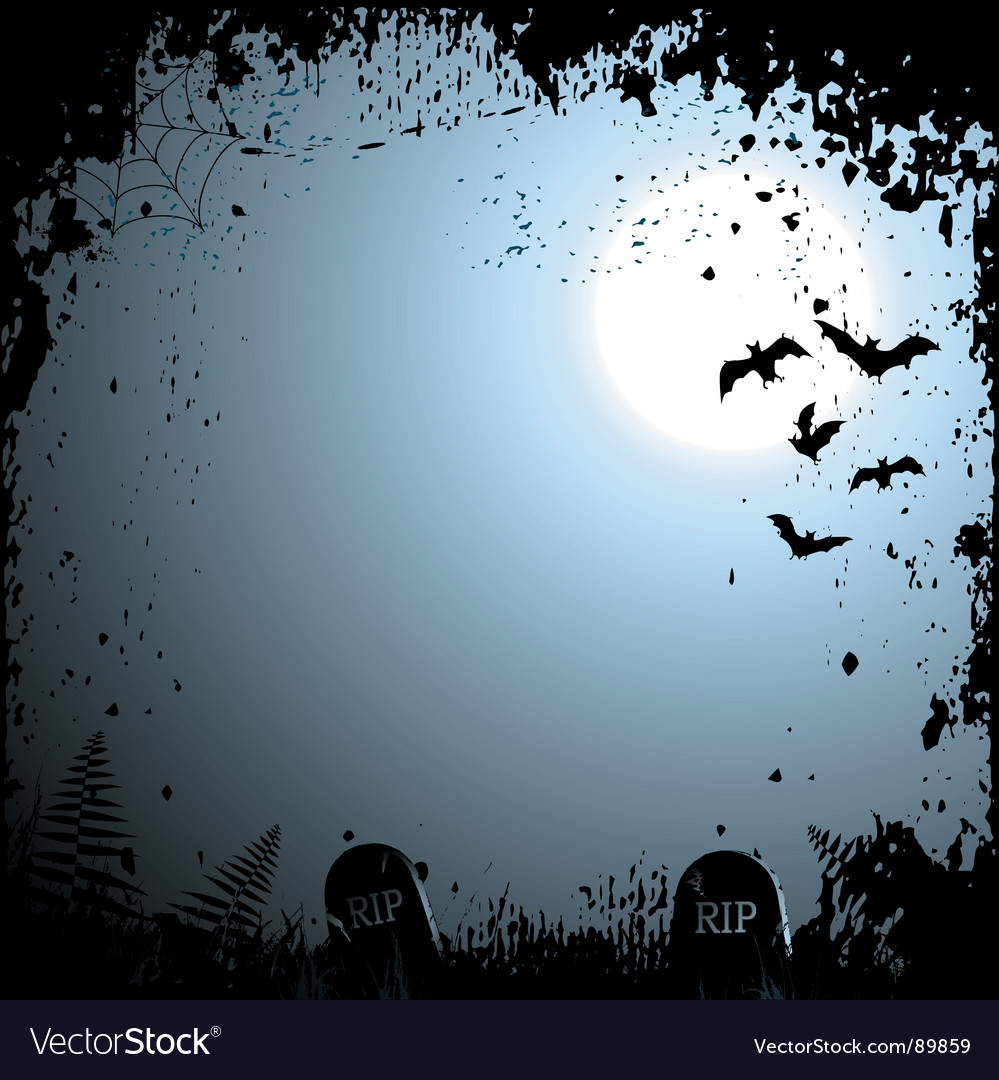 Flying bats Halloween background Royalty Free Vector Image