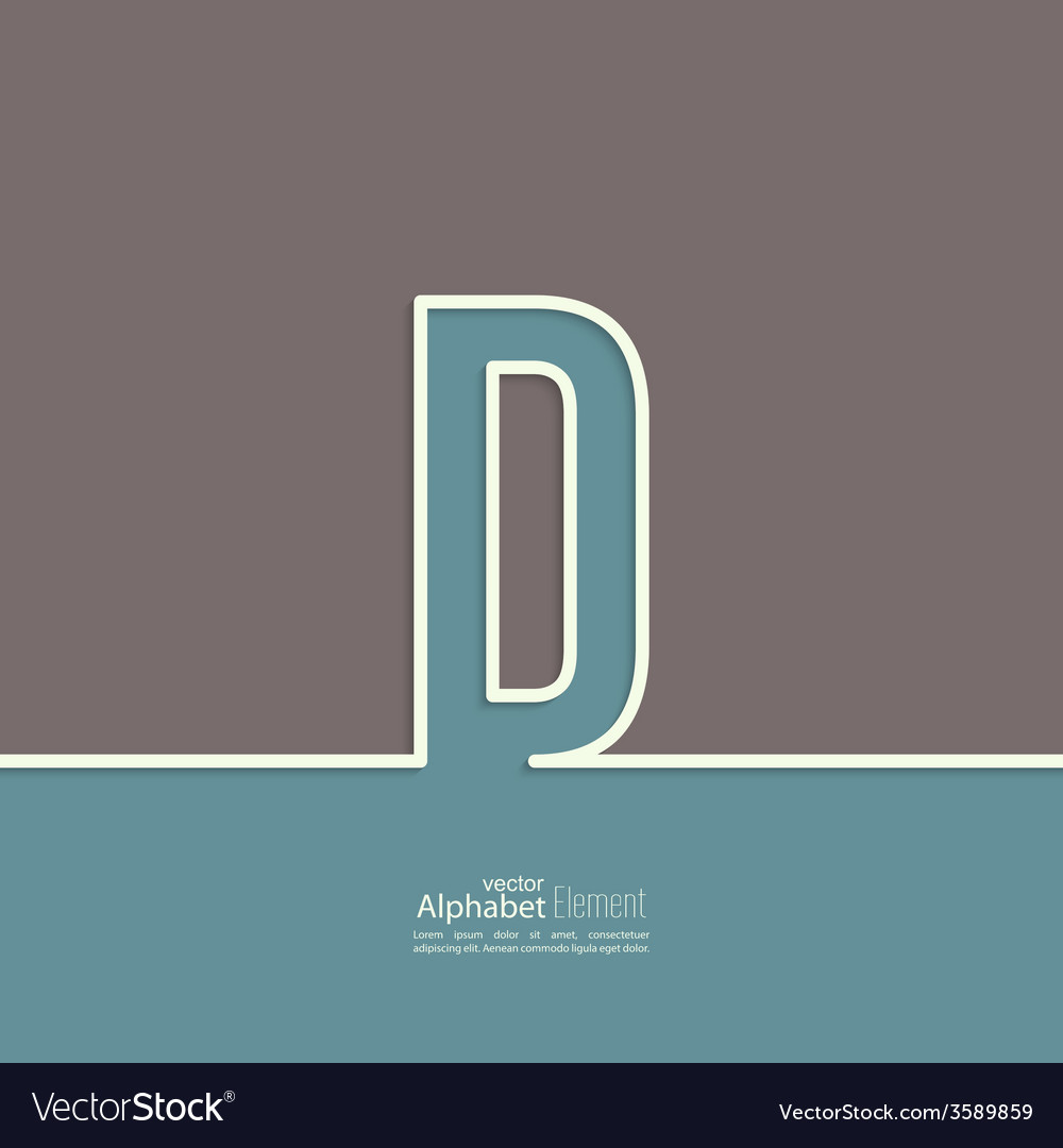 The letter of the alphabet vector image