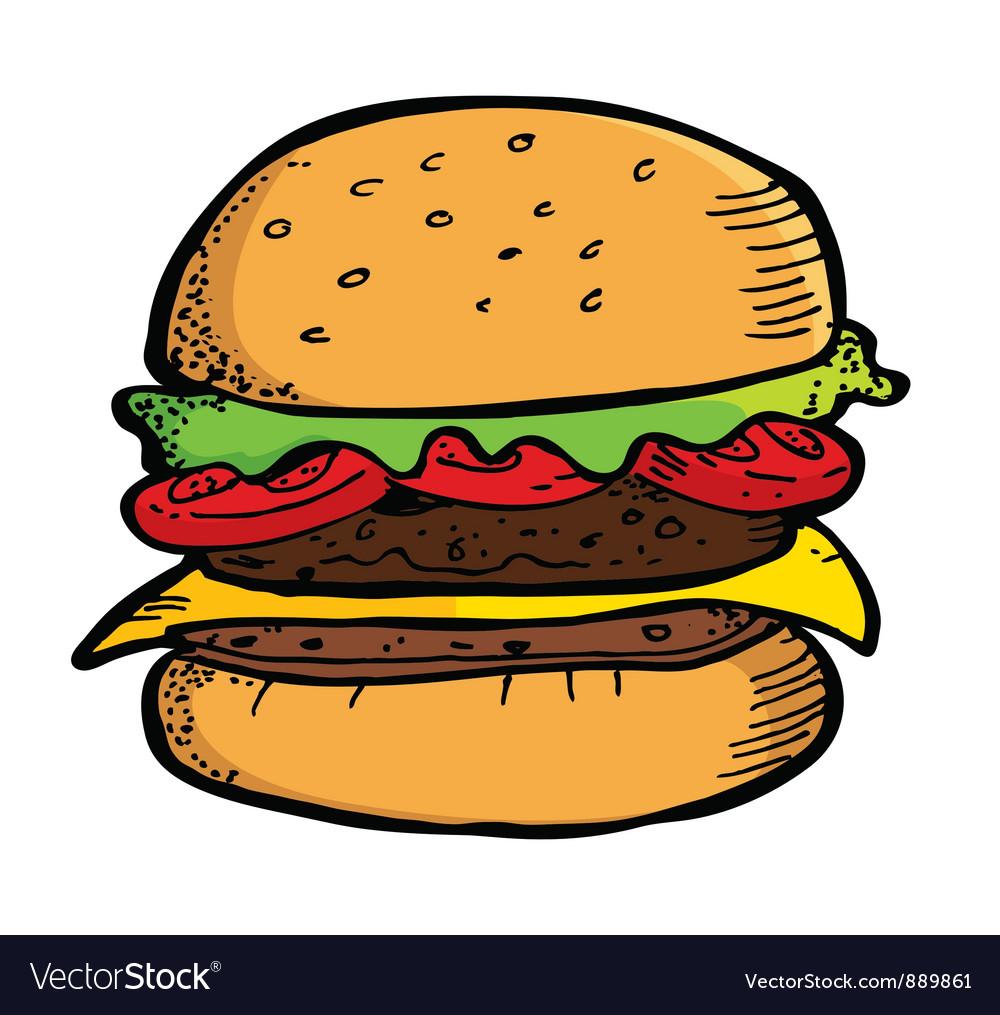 beef burger royalty free vector image vectorstock hamburger clip art black and white soda hamburger clip art black and white image