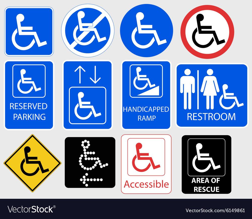 Handicap Symbol Graphic - vector image