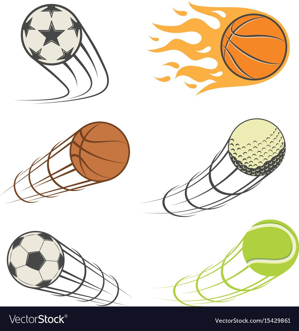 Set of sports balls vector image