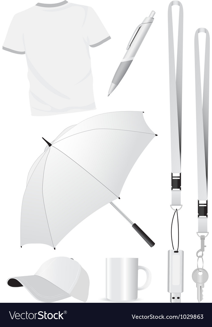 Blank promotion gift mock-ups vector image