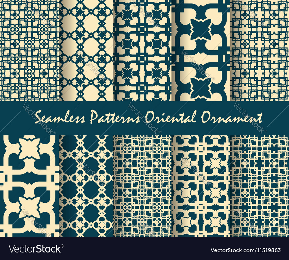 Oriental motif abstract background vector image