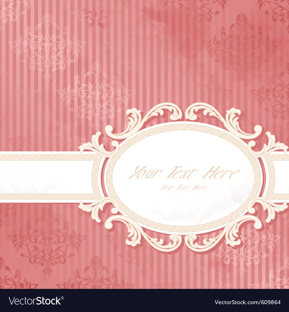 Antique wedding background vector image