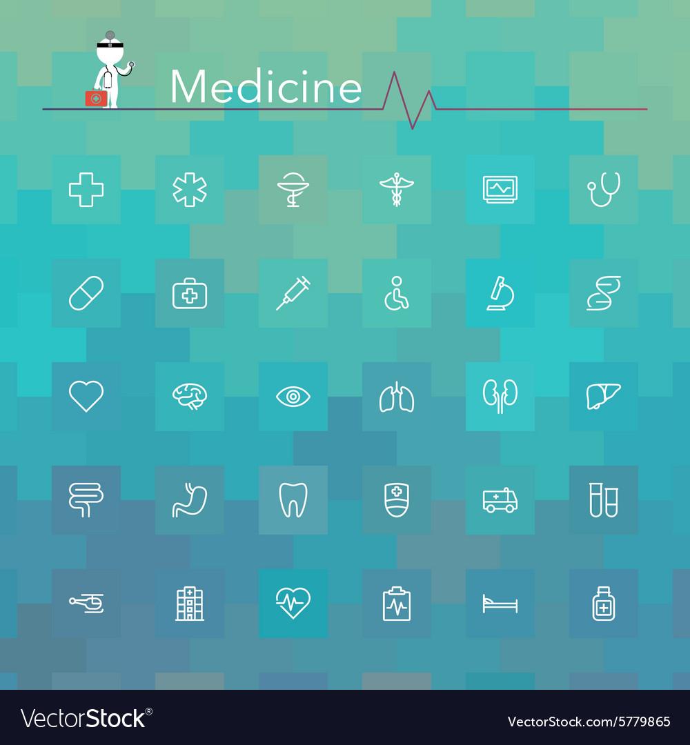 Medicine Line Icons vector image