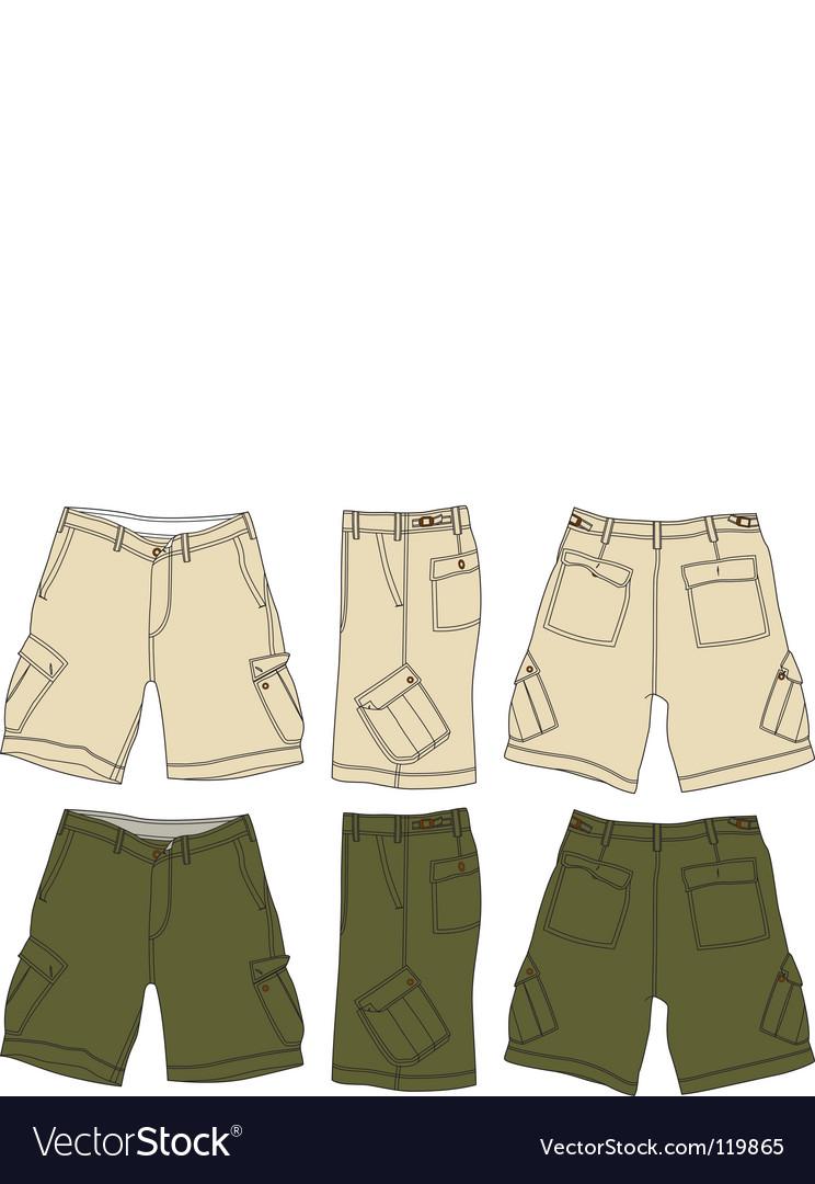 Men cargo shorts vector image