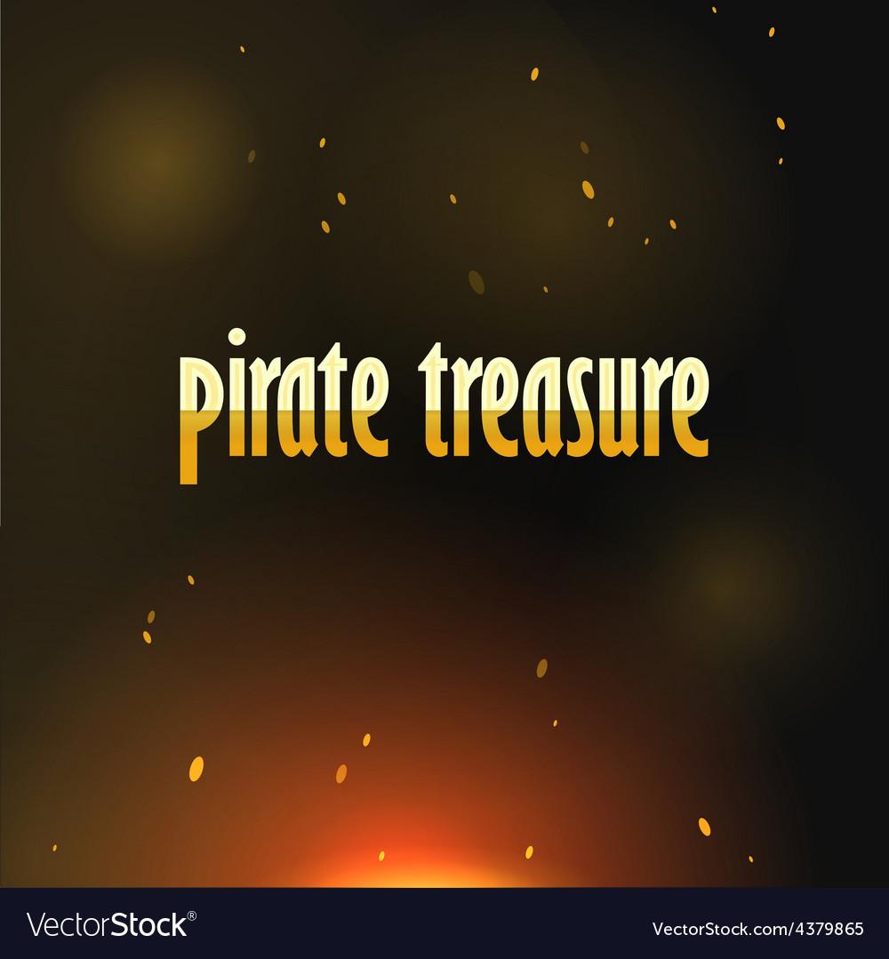 Pirate Treasure vector image