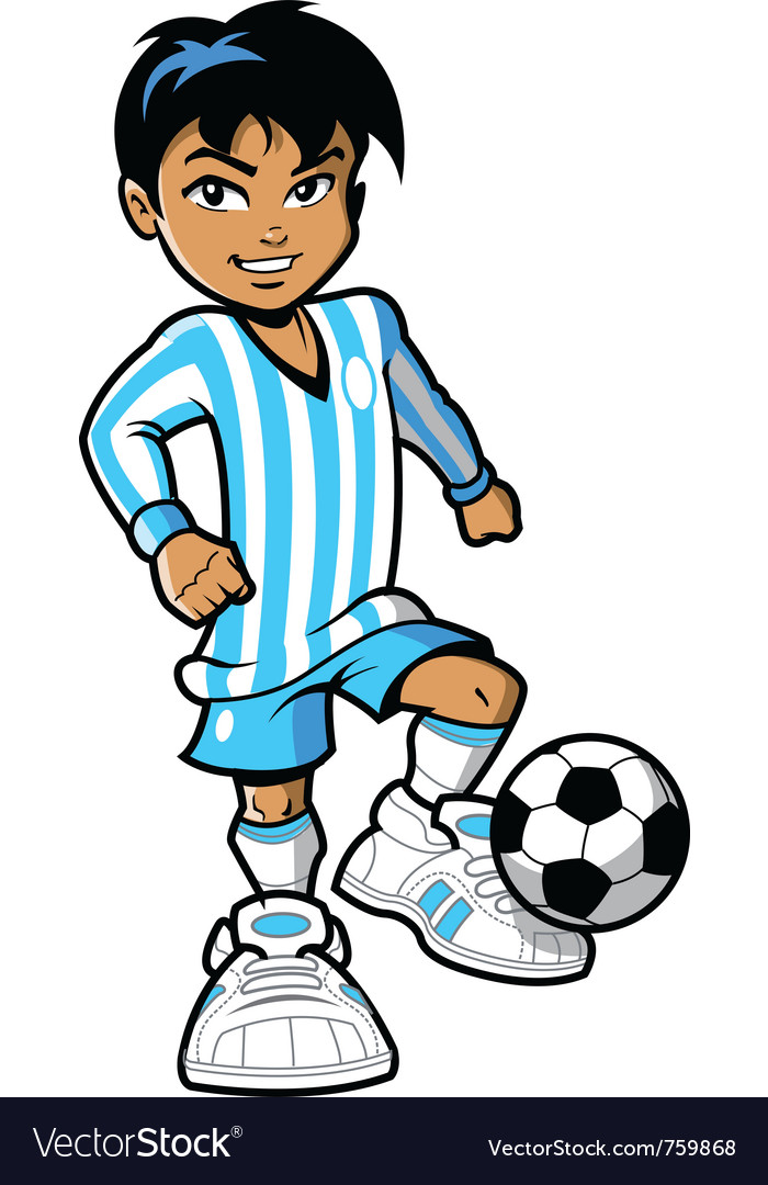 Cartoon soccer football player vector image