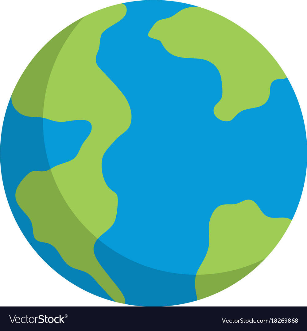 Earth planet icon vector image
