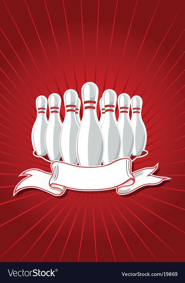 Pins with banner Vector Image