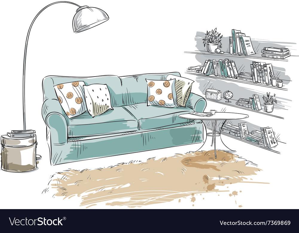 Hand drawn interior element vector image