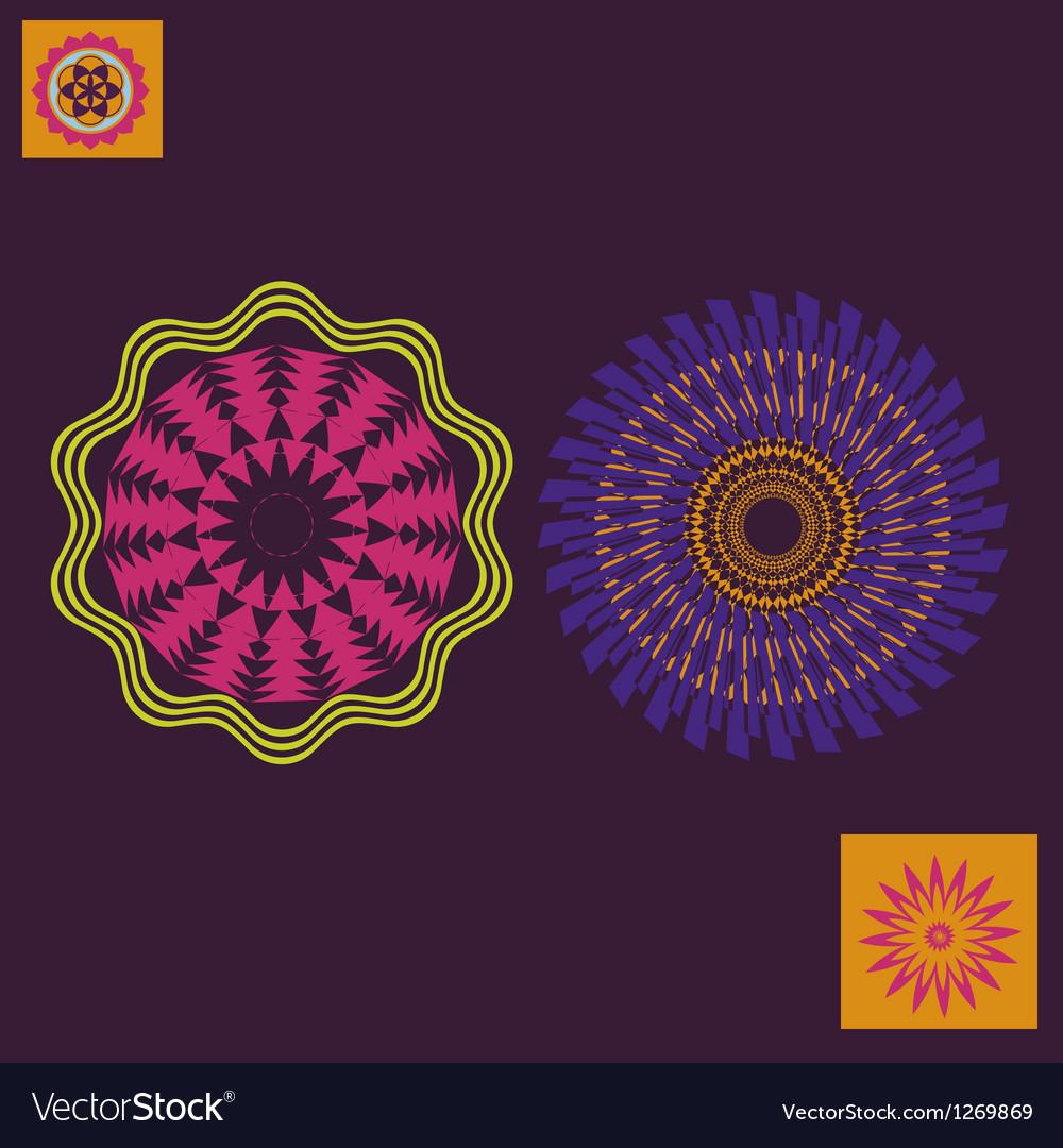 Spring floral meditation print vector image