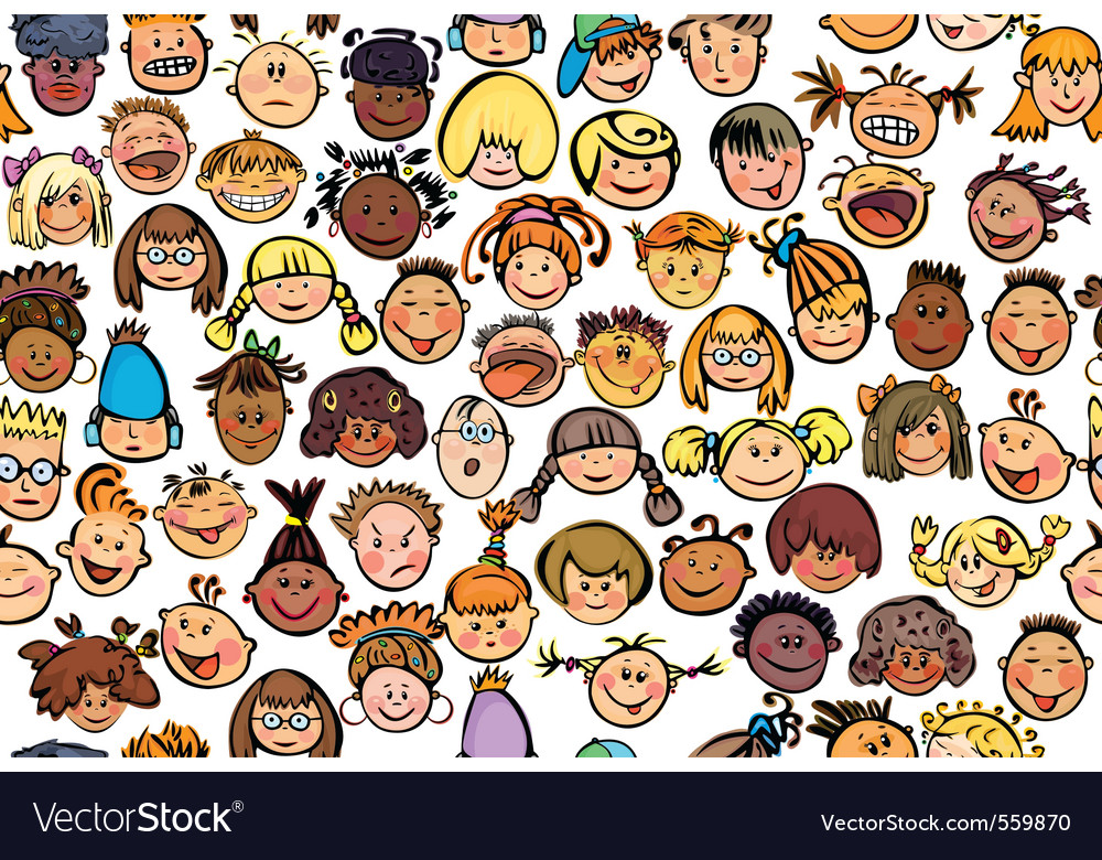 Cartoon pattern vector image
