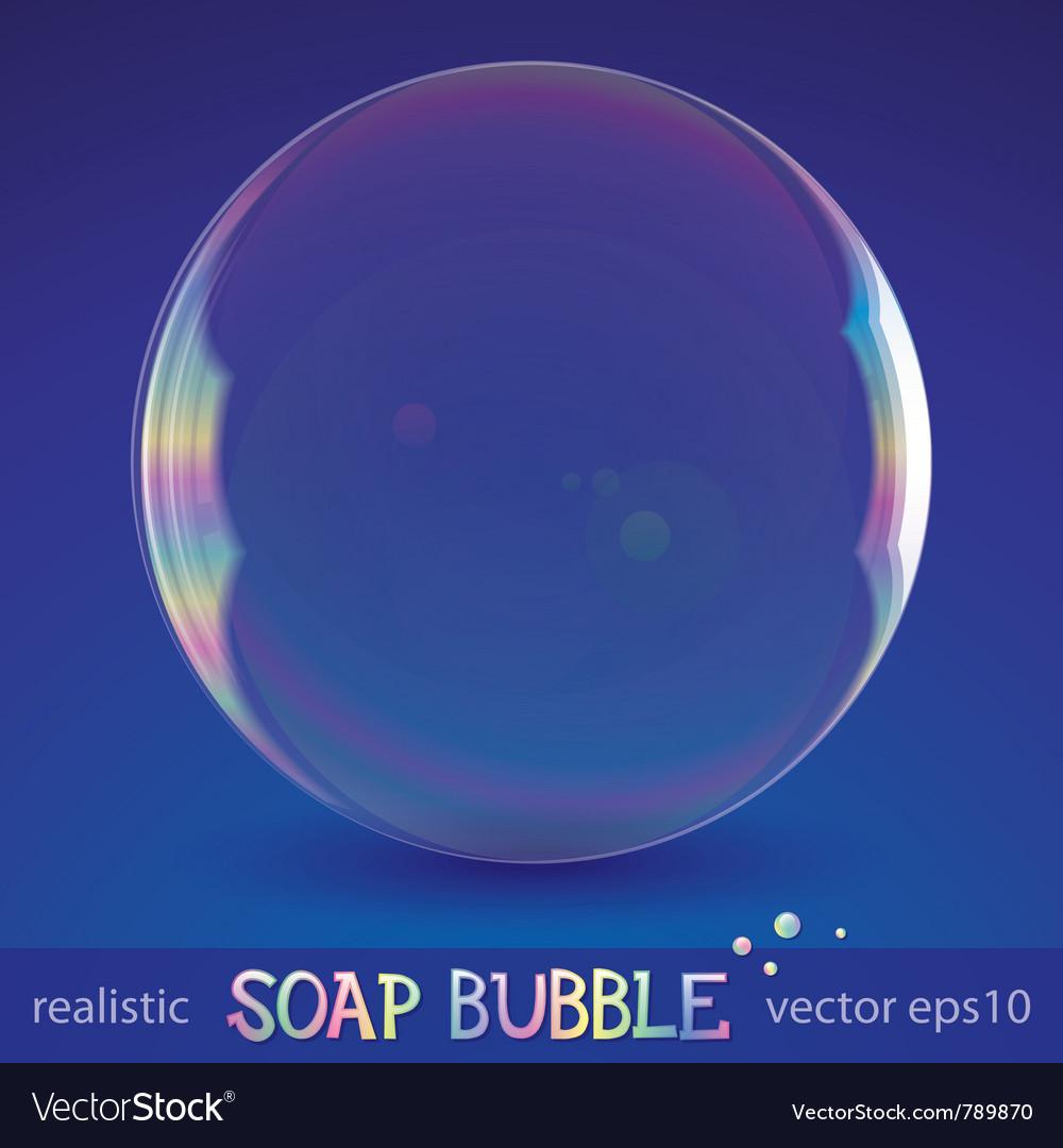 soap bubble royalty free vector image vectorstock