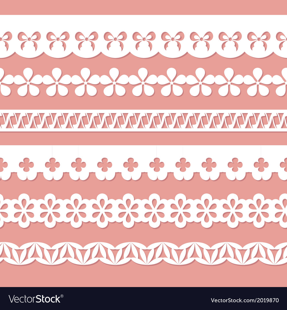 White seamless paper laces vector image
