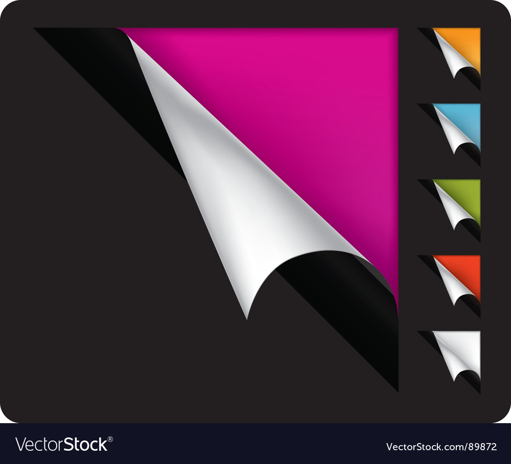 Page curled corners Vector Image