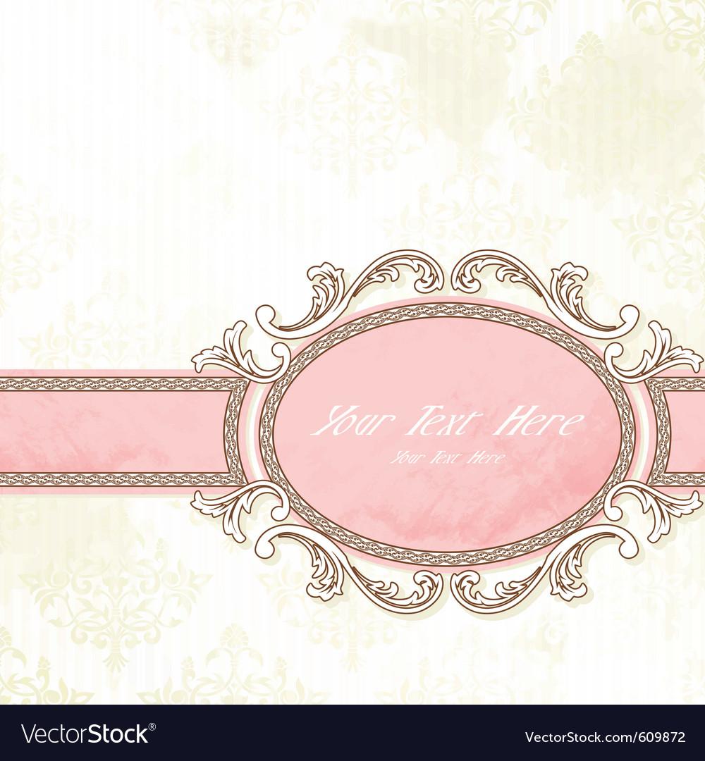 Antique wedding banner vector image