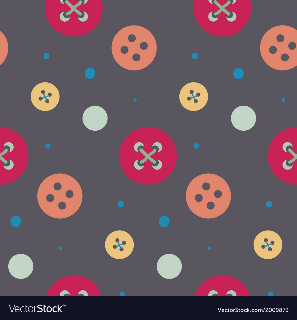 Colorful button seamless pattern vector image