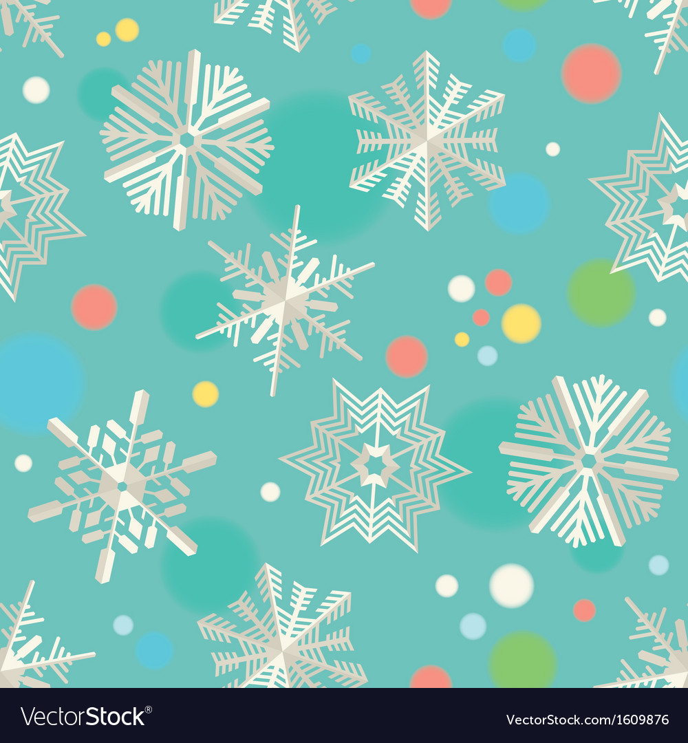 Paper snowflakes seamless pattern vector image