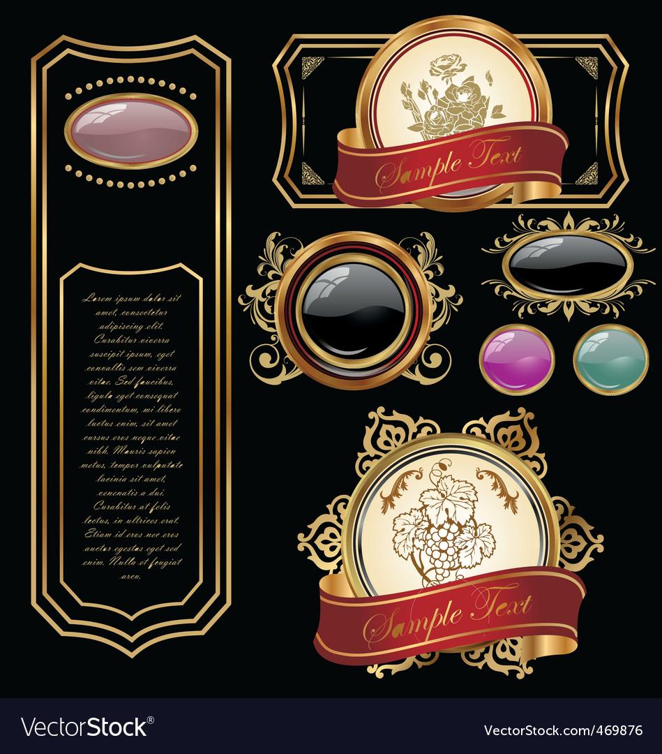 Vintage labels design vector image