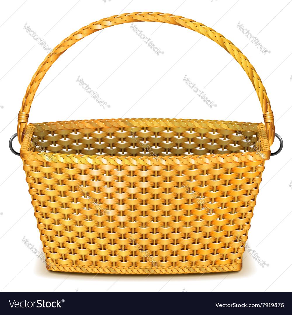 Wicker Basket vector image