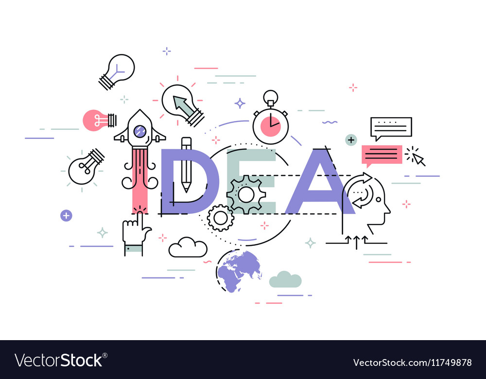 Modern concept of word idea vector image