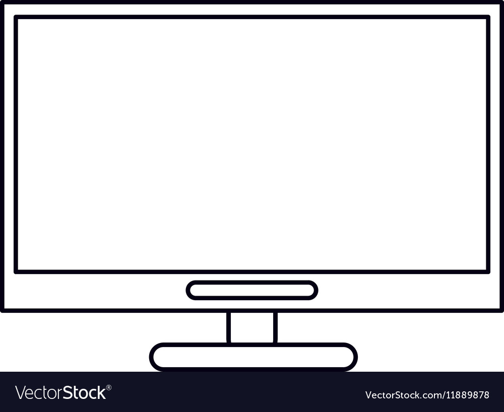 Pictogram computer technology work device vector image