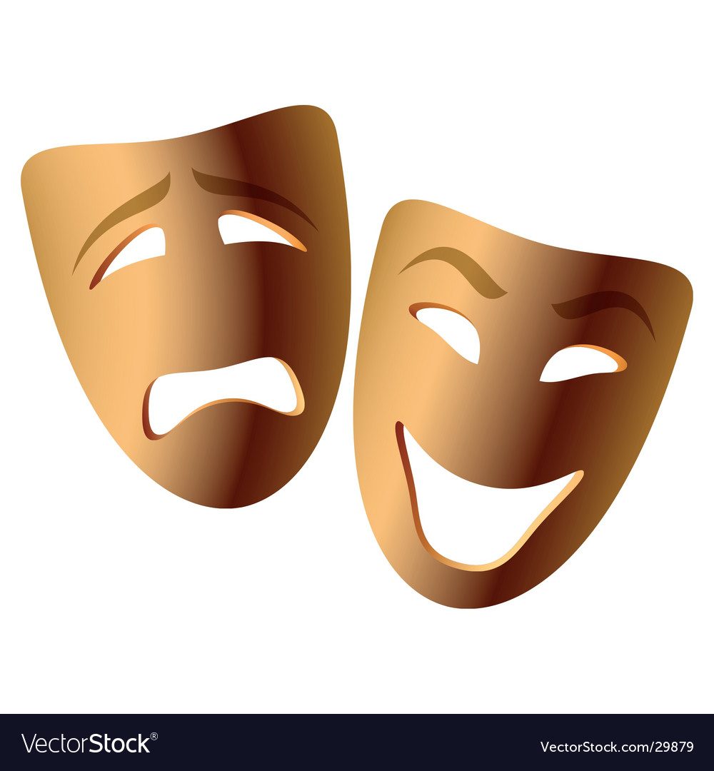 Comedy and tragedy vector image