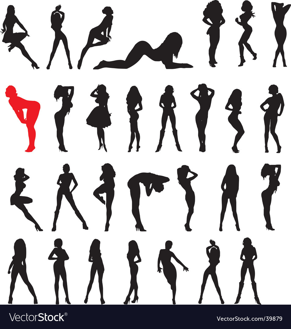 Sexy woman black vector image