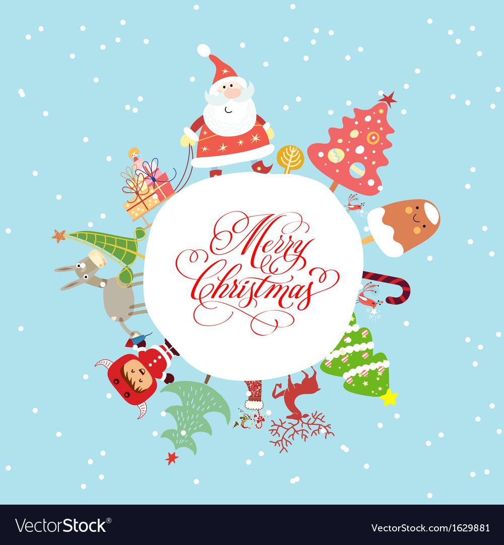 Funny and cute christmas card royalty free vector image funny and cute christmas card vector image m4hsunfo Gallery