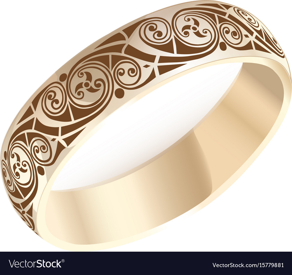 Golden ring Royalty Free Vector Image - VectorStock