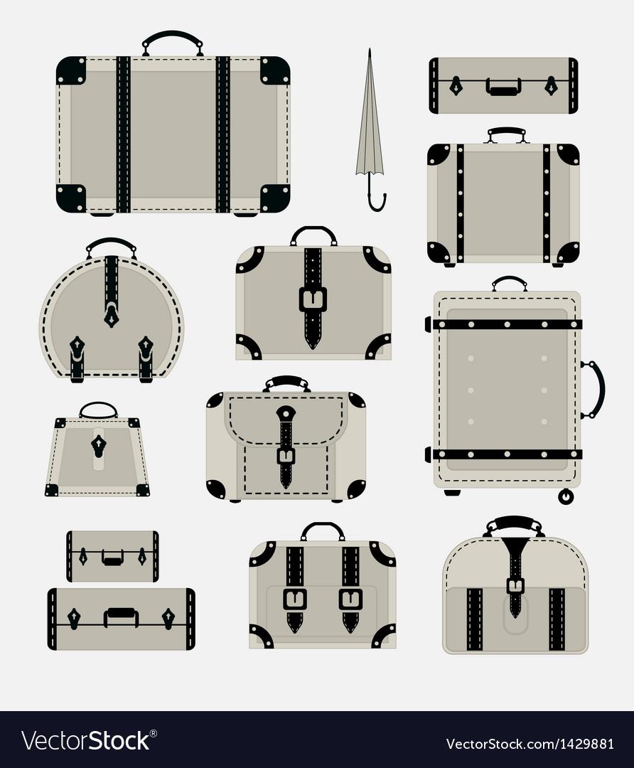 Traffic trunks vector image