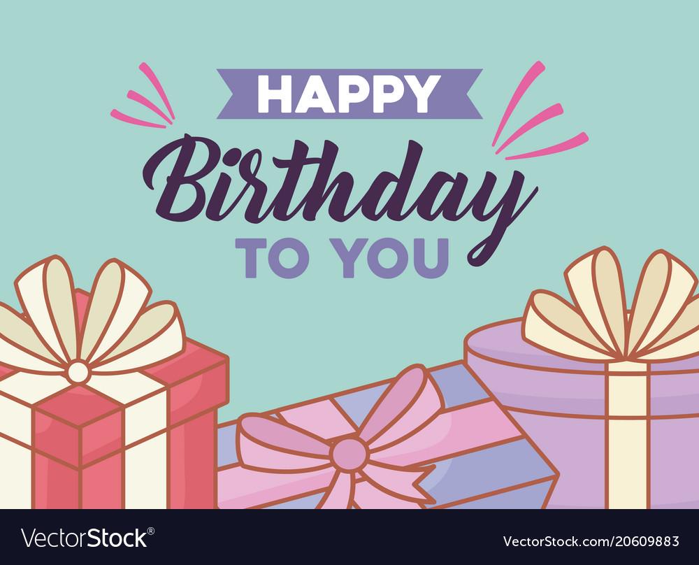 Happy Birthday Design Vector ~ Happy birthday design royalty free vector image