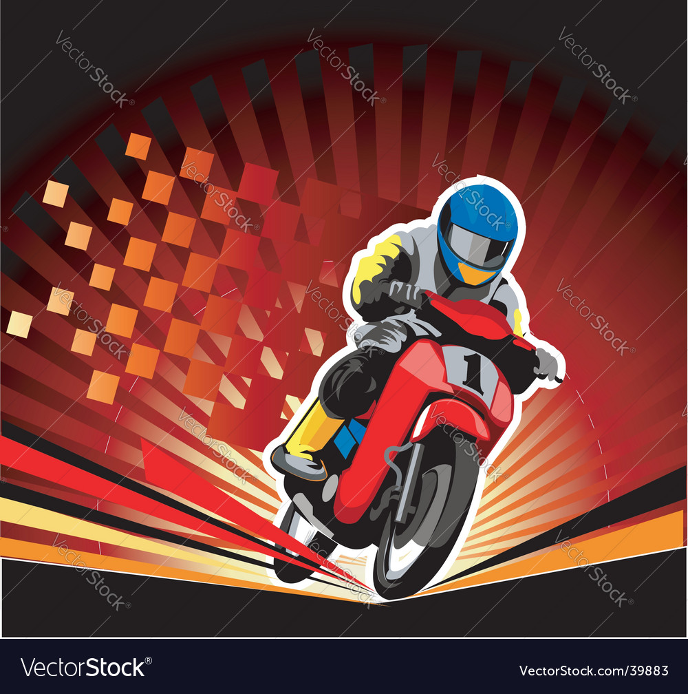 Road race vector image