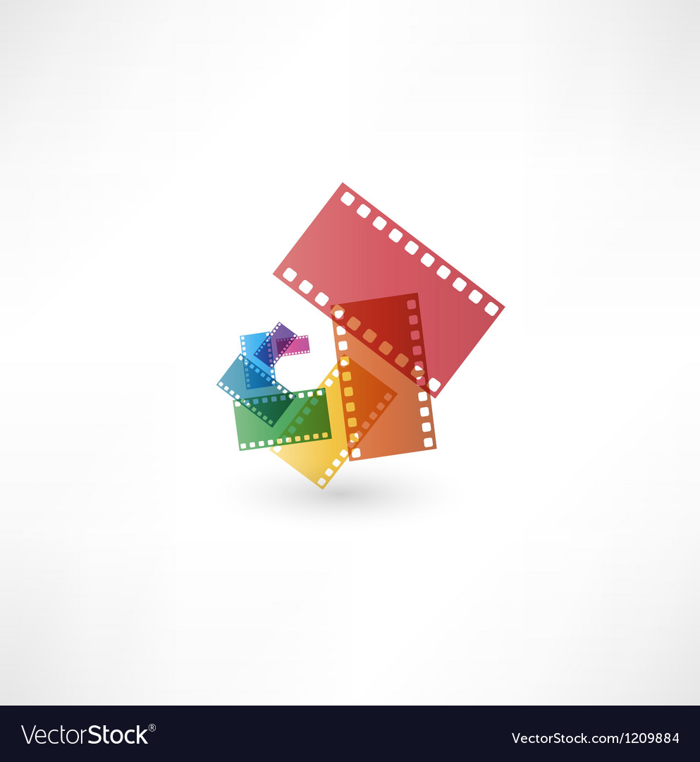 Film icon wave vector image