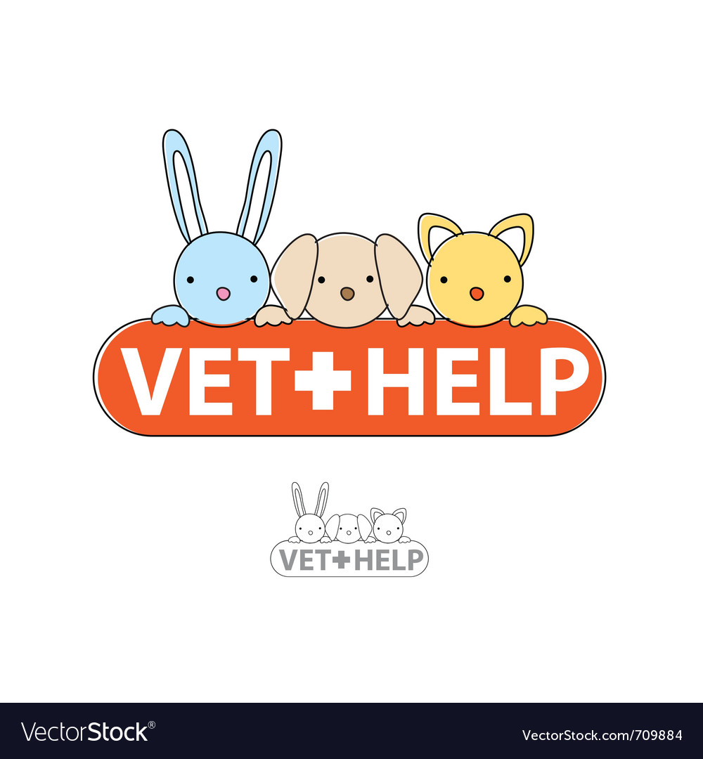 Sign of veterinary care vector image
