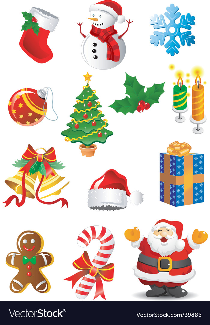 Christmas clip art vector image