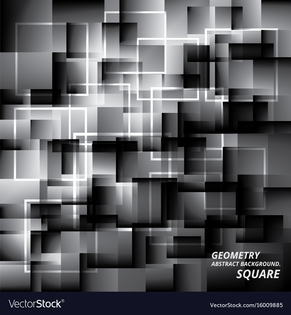 Geometry abstract background pattern square vector image