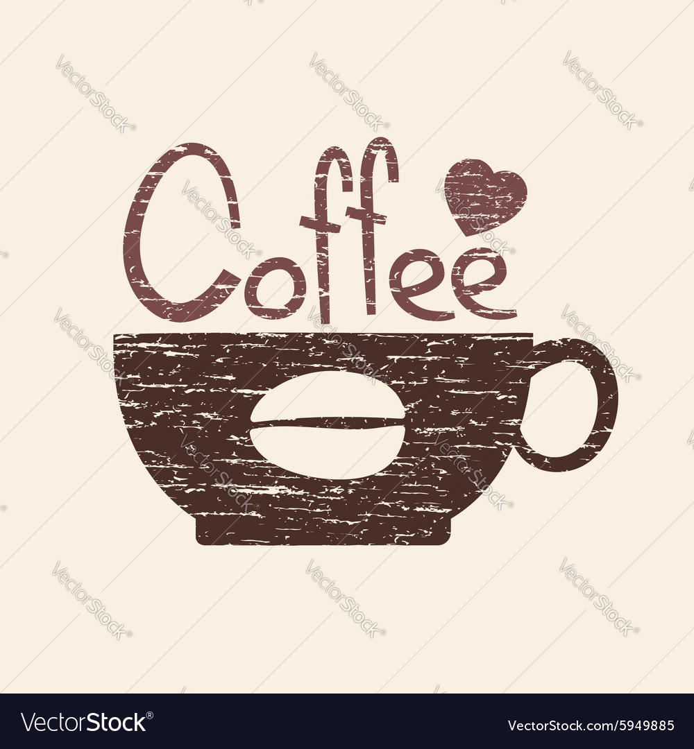 Hot coffee vector image