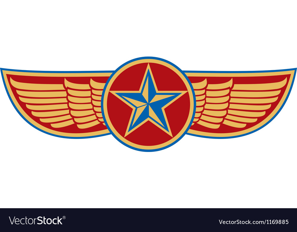 Star and wings vector image