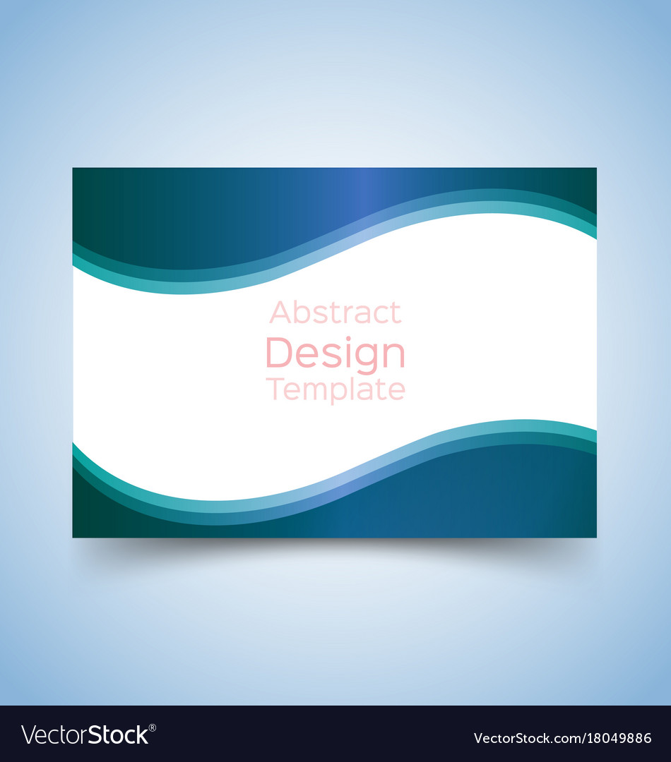Flyer template wave design 2 vector image
