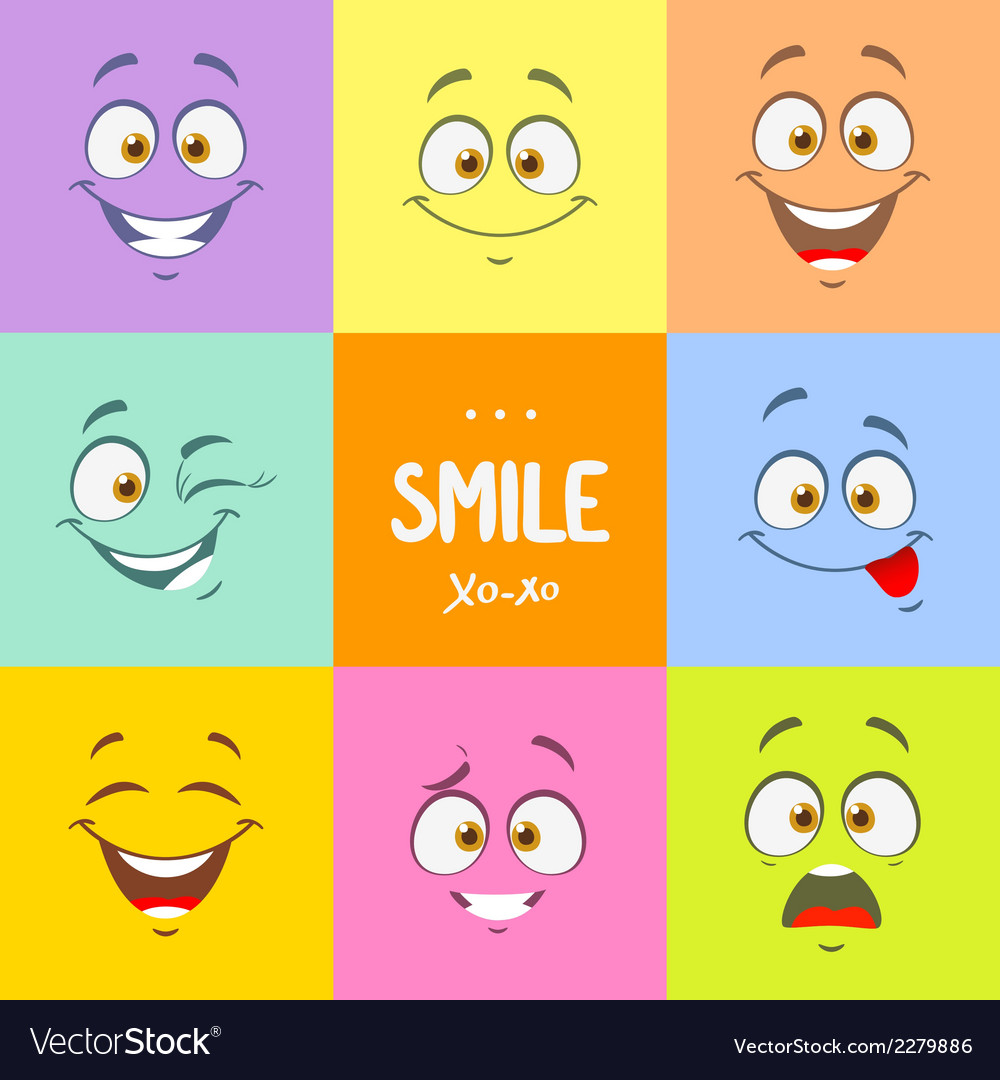 Smile set vector image