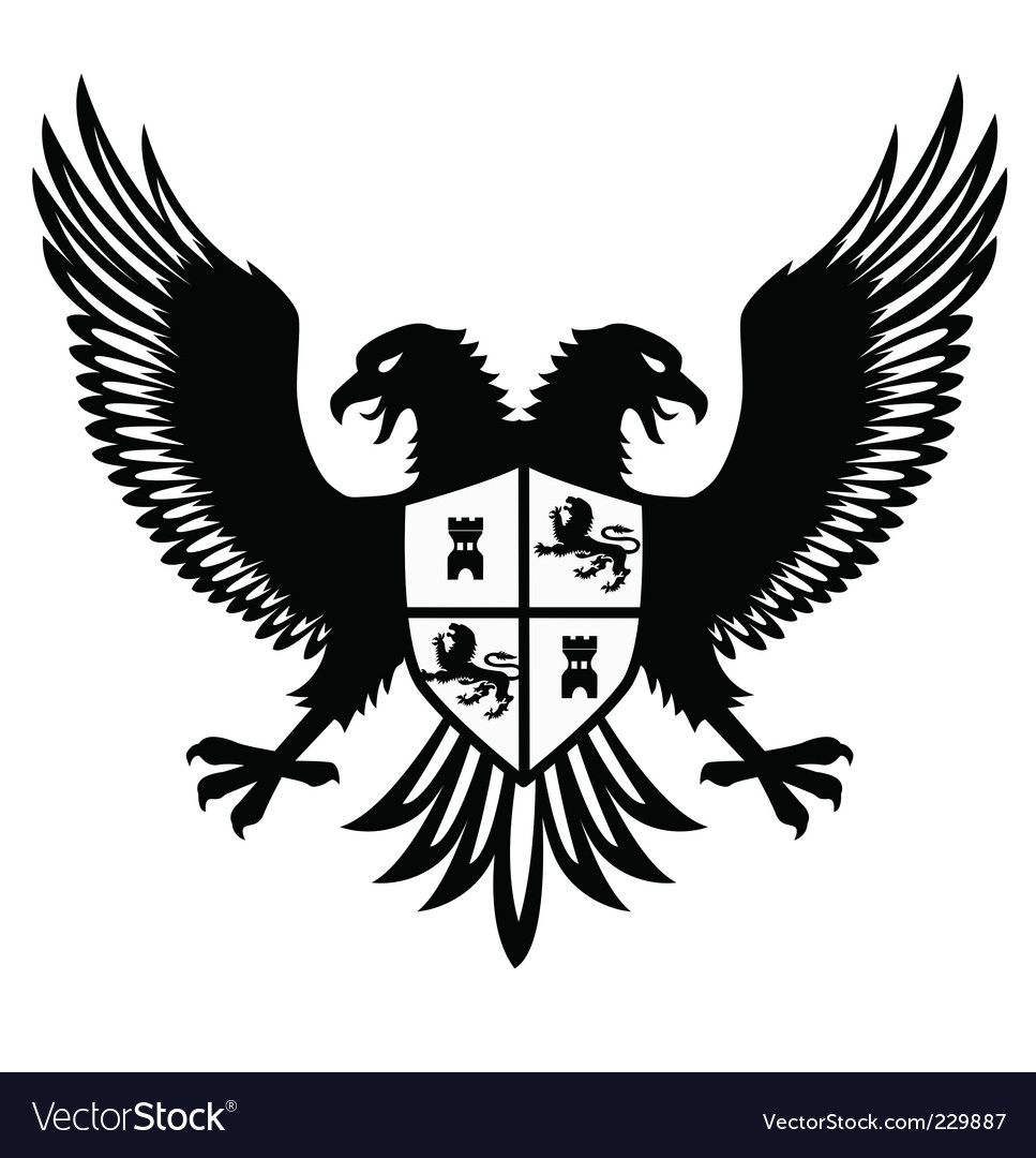 Heraldic bird vector image